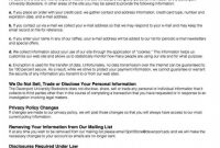 Privacy Policy Statement Sample For Website Australia X with Customer Data Privacy Policy Template