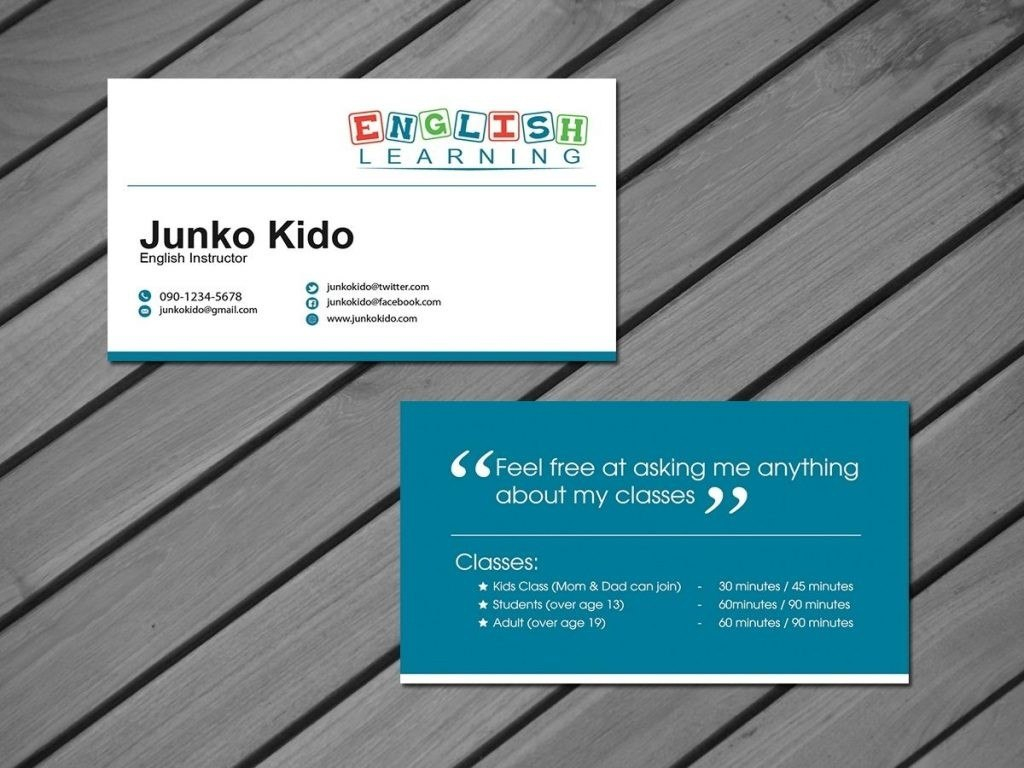 Private Tutor Business Cards Teacher Card Template Free Images Ideas Regarding Business Cards For Teachers Templates Free
