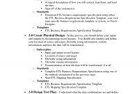 Process Document Template  Et  Business Requirements List in Business Process Design Document Template