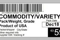 Produce Traceability Case  Pallet Labeling  Youtube regarding Pallet Label Template