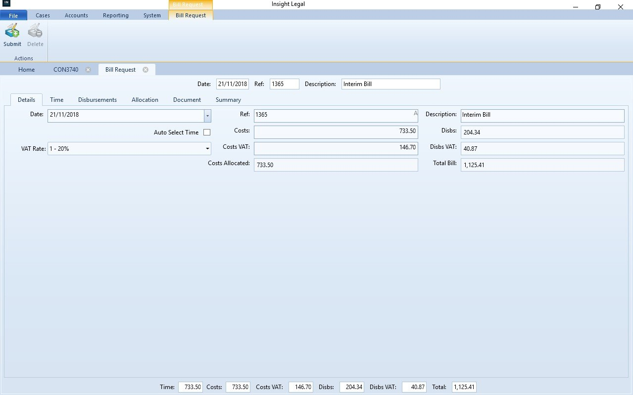 Professional Billing And Invoices With Insight Legal Software In Solicitors Invoice Template