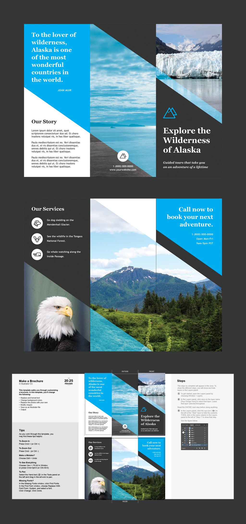 Professional Brochure Templates  Adobe Blog With Illustrator Brochure Templates Free Download