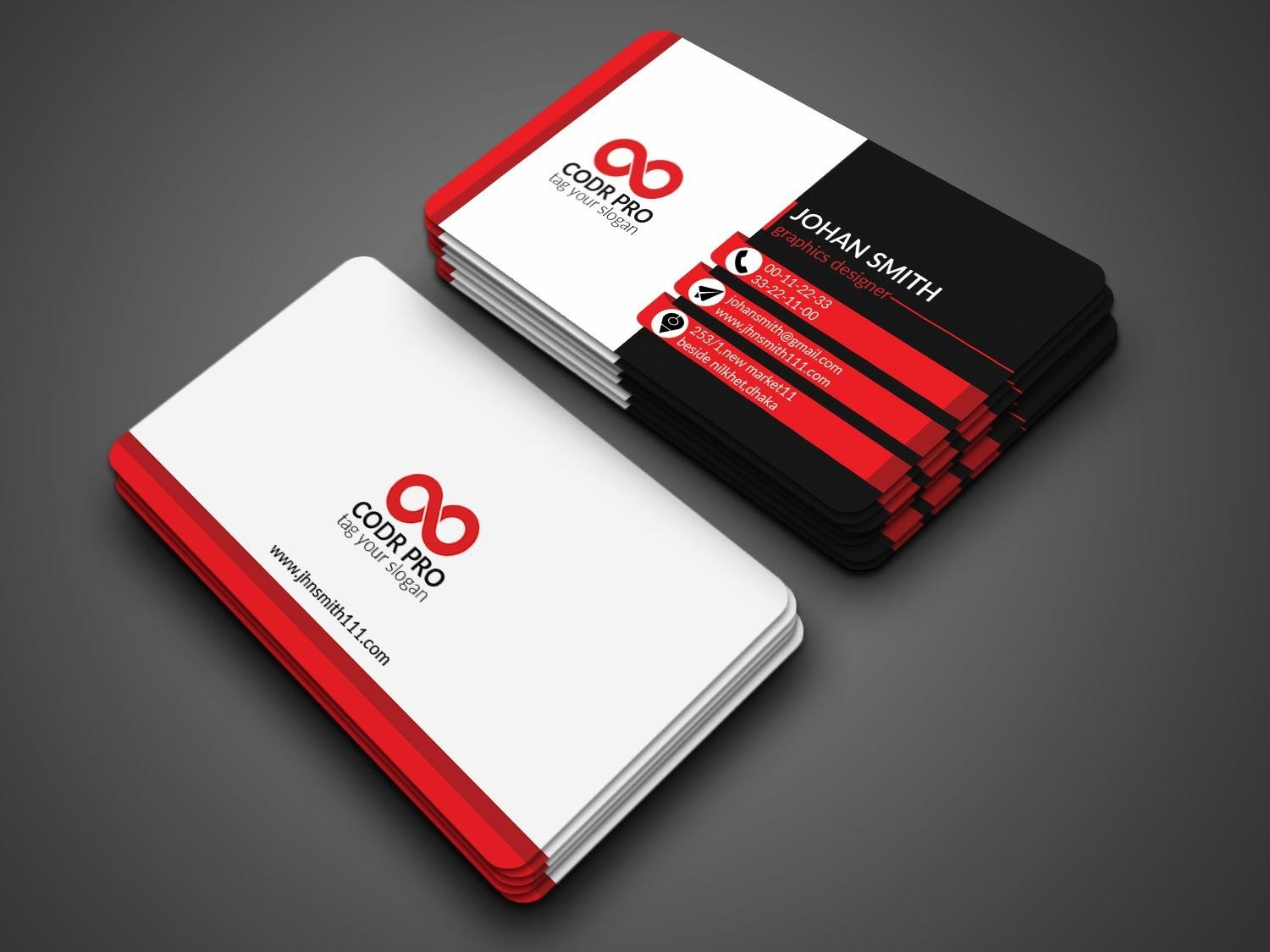 Professional Business Card Design In Photoshop Cs Tutorial Pertaining To Photoshop Cs6 Business Card Template