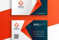 Professional Business Card Template Design Vector Image with regard to Professional Name Card Template