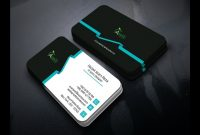 Professional Business Card Templates Design  Photoshop Tutorial within Calling Card Template Psd