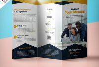 Professional Corporate Trifold Brochure Free Psd Template inside Tri Fold Menu Template Photoshop