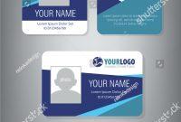 Professional Id Card Designs  Psd Eps Ai Word  Free regarding College Id Card Template Psd