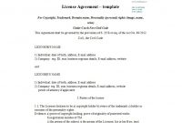 Professional License Agreement Templates ᐅ Template Lab with regard to Free Trademark License Agreement Template