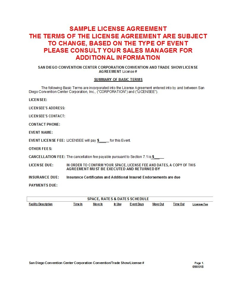 Professional License Agreement Templates ᐅ Template Lab With Regard To Intellectual Property License Agreement Template