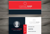 Professional Red Business Card Template Royalty Free Vector within Professional Name Card Template