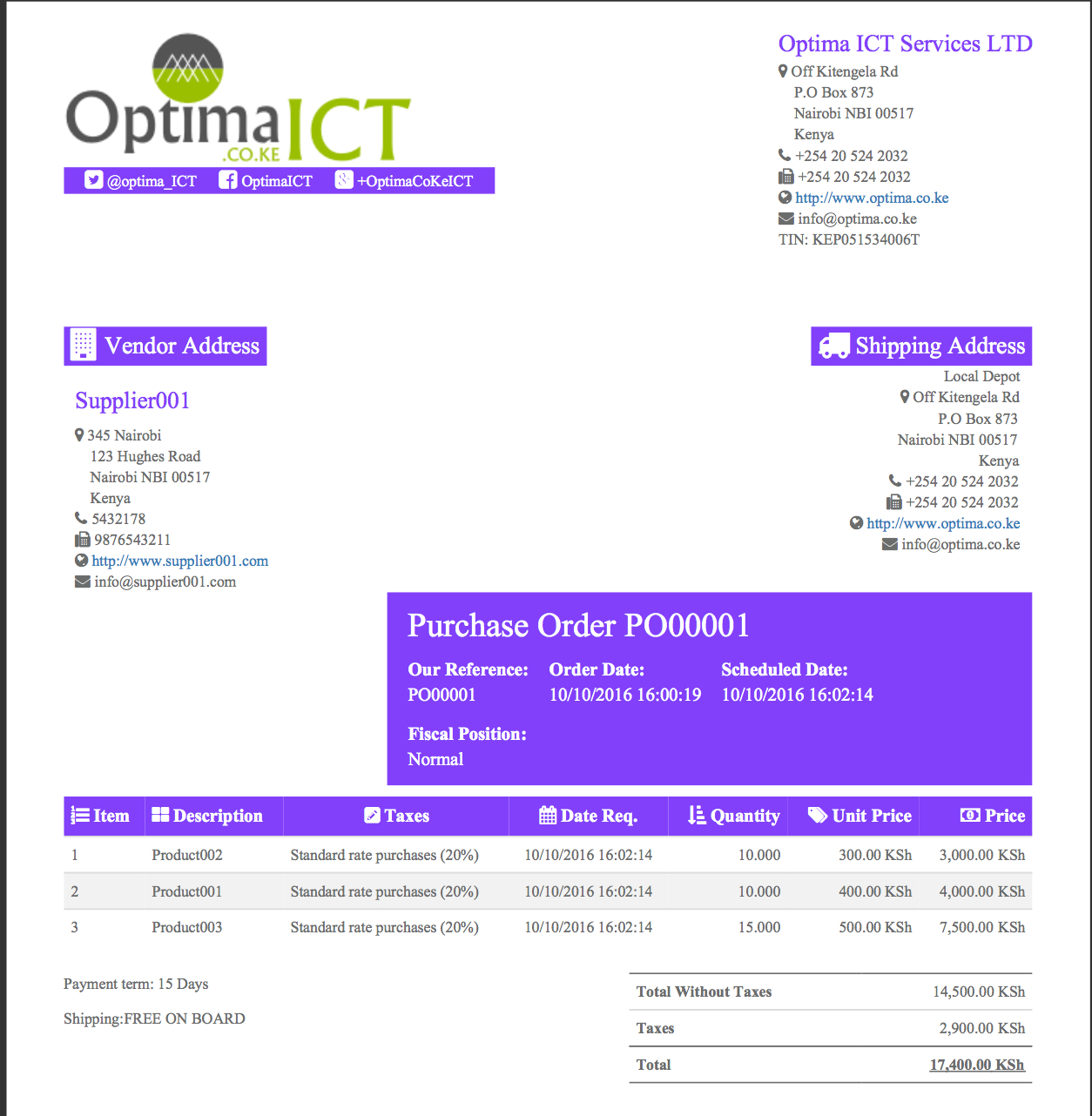 Professional Report Templates  Odoo Apps Within Html Report Template Download