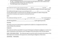 Professional Sublease Agreement Templates  Forms ᐅ Template Lab within Sublease Commercial Agreement Template