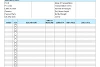 Proforma Invoice Template regarding Proforma Invoice Template India