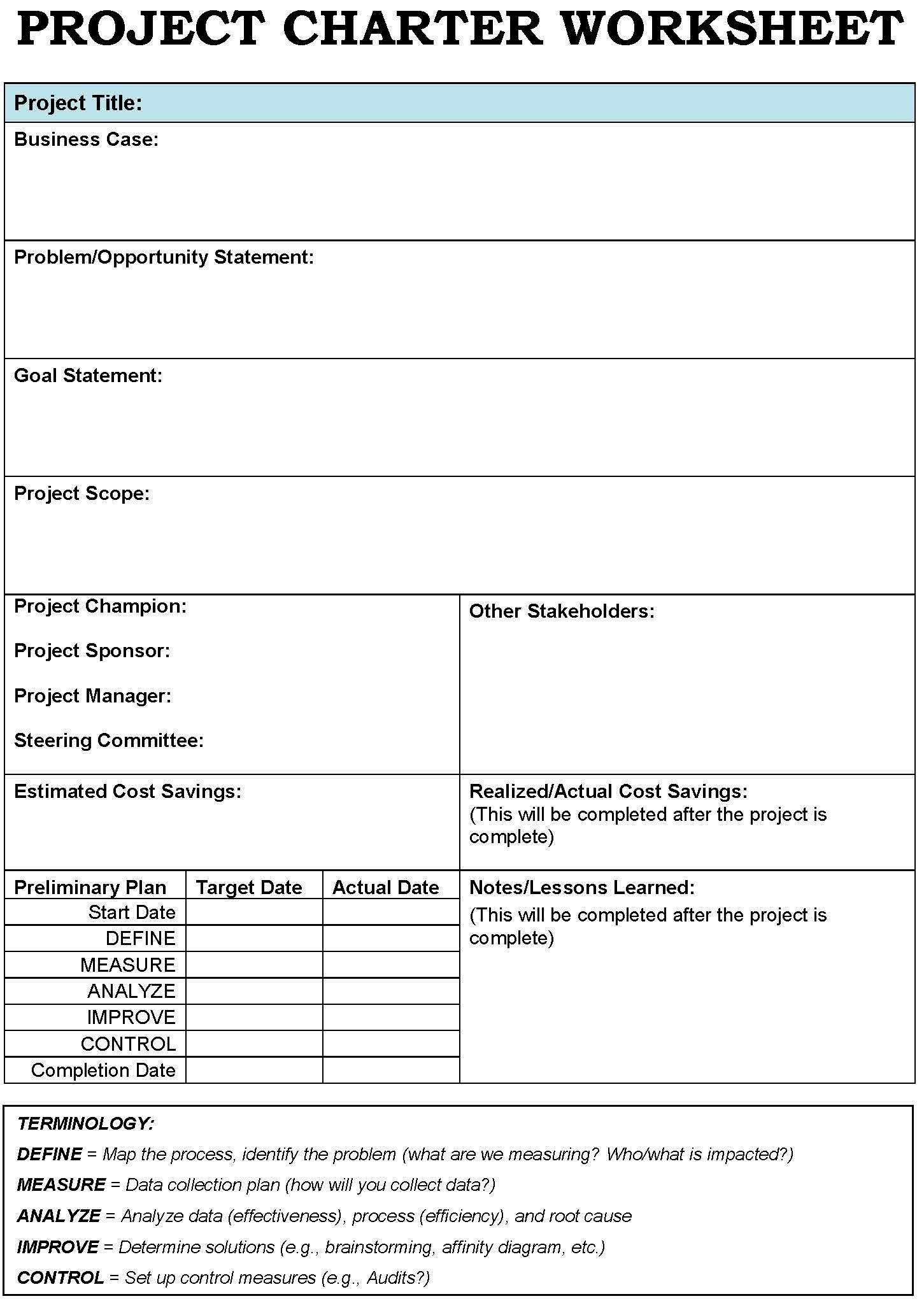 Project Charter Templates  Google Search  Business Process Inside Team Charter Template Powerpoint