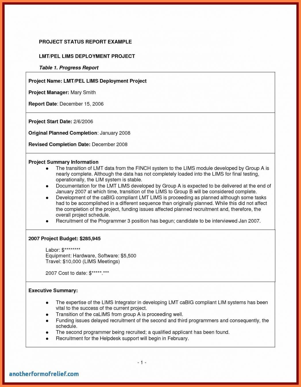 Project Completion Report Template Excel Schedule Management Status Within Project Closure Report Template Ppt