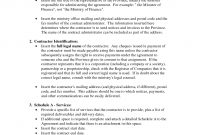 Project Management Consultant Contract Template Professional With Regard To Physician Consulting Agreement Template