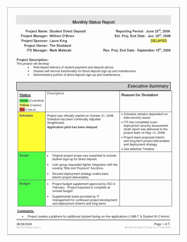 Project Nt Monthly Report Format Example Sample Doc Pdf  Smorad Throughout How To Write A Monthly Report Template