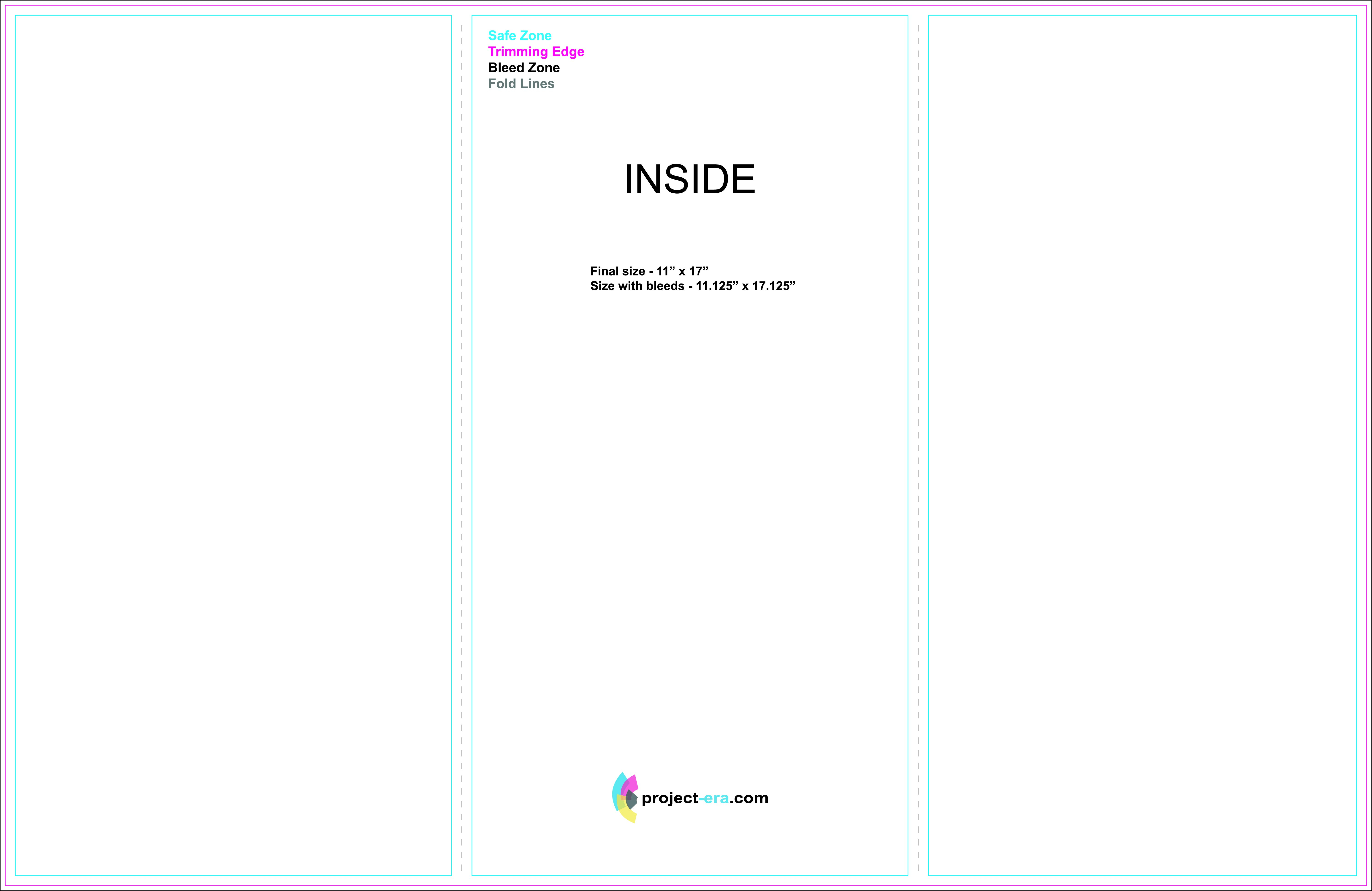 Projectera  Print  Design Services  Print Templates Intended For Tri Fold Brochure Template Illustrator