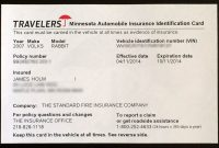 Proof Of Auto Insurance Template Free  Template Business within Proof Of Insurance Card Template