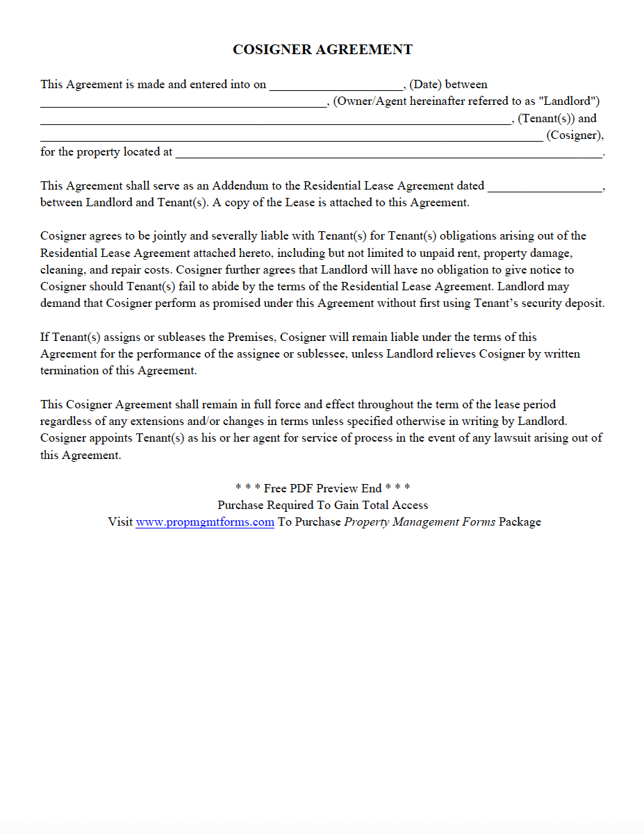 Property Management Forms  Contracts Agreements Templates Pertaining To Landlords Property Management Agreement Template