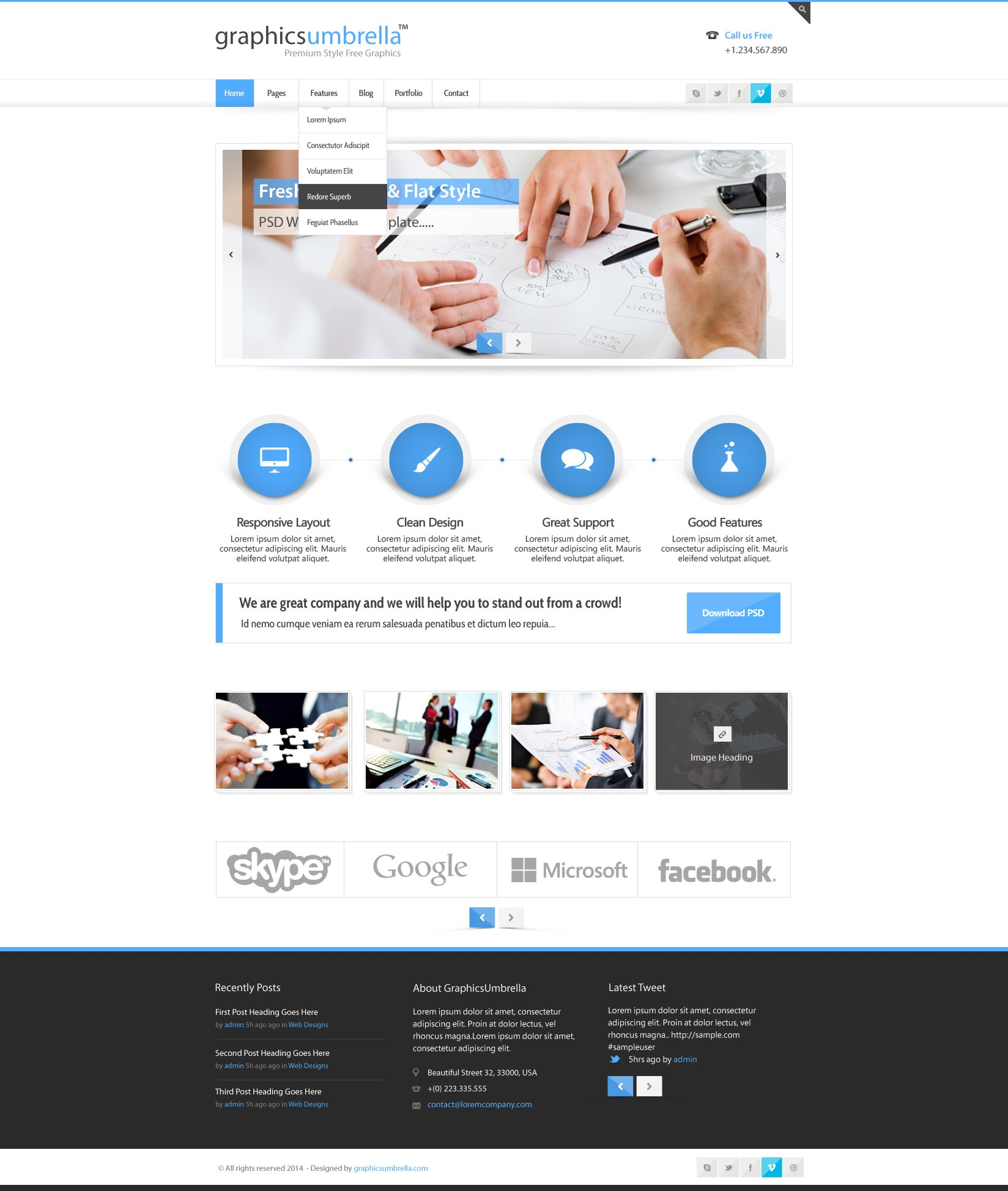 Psd Corporate Business Web Design Template  Designscanyon Pertaining To Free Psd Website Templates For Business