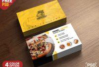 Psd Fast Food Restaurant Business Card Design  Freebie  Business for Food Business Cards Templates Free