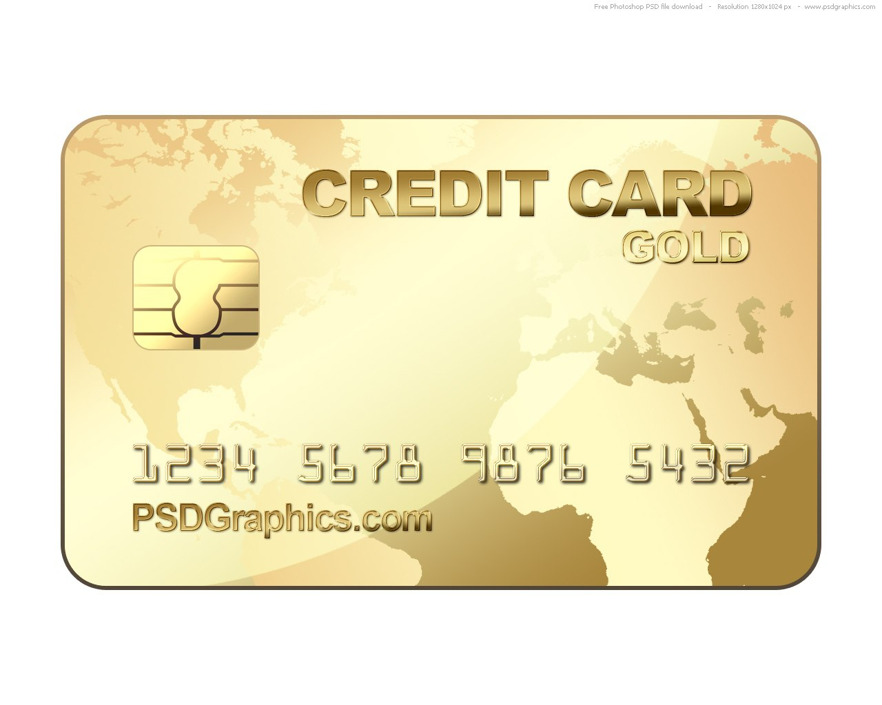 Psd Gold Credit Card Template  Psdgraphics Pertaining To Credit Card Template For Kids