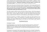 Psychologistclient Services Agreement regarding Client Service Agreement Template