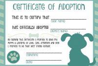 Puppy Adoption Certificate  Dog Birthday In   Adoption with regard to Pet Adoption Certificate Template