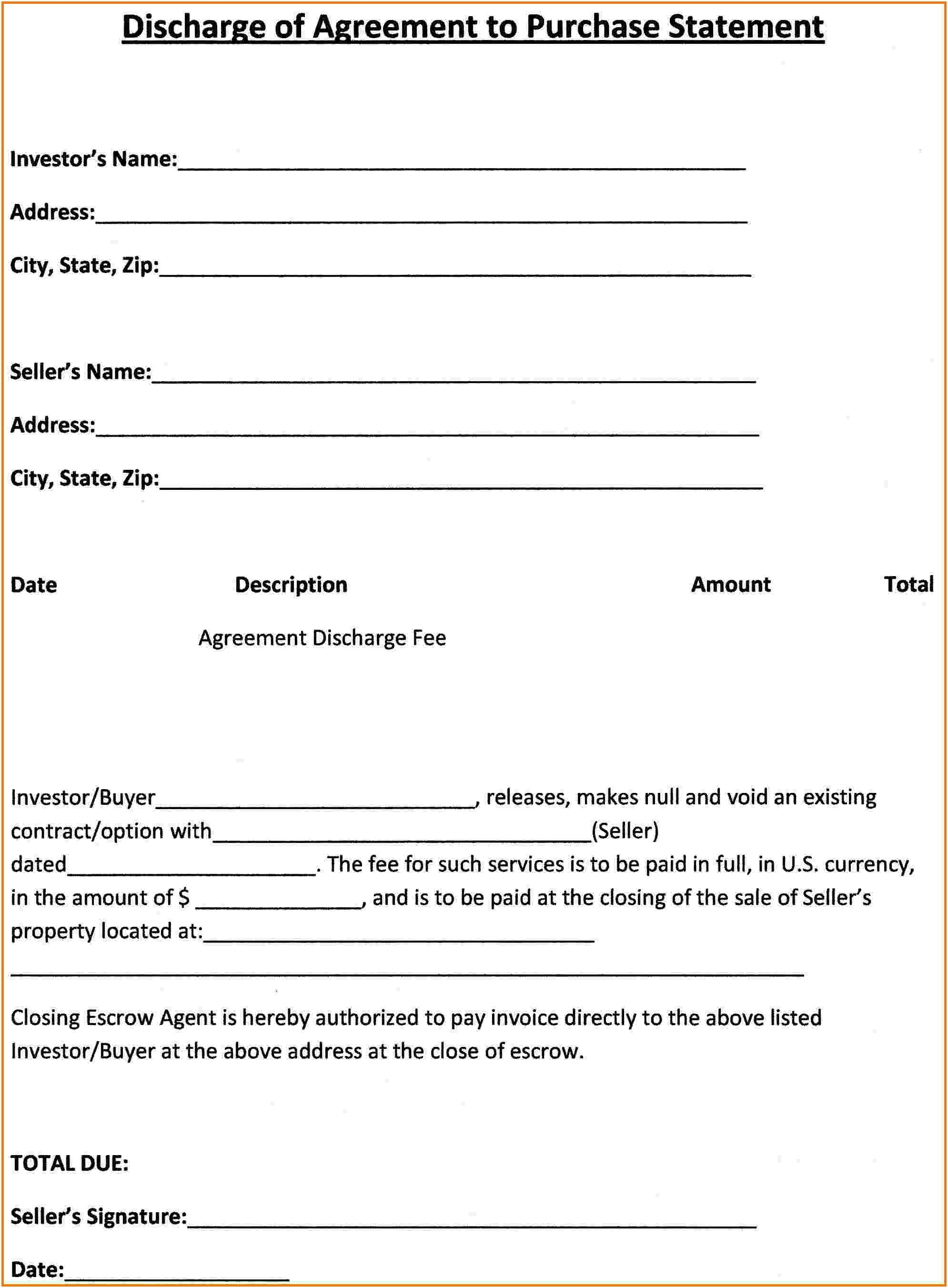 Purchase Agreement Template Word Free Sales Form Simple Pertaining To Free Simple Real Estate Purchase Agreement Template