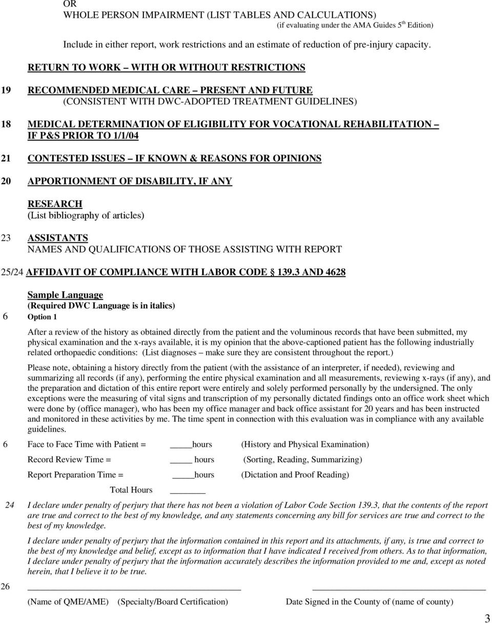 Qme Report Sample Legal Updates In Workers Compensation  Meetpaulryan Throughout Medical Legal Report Template