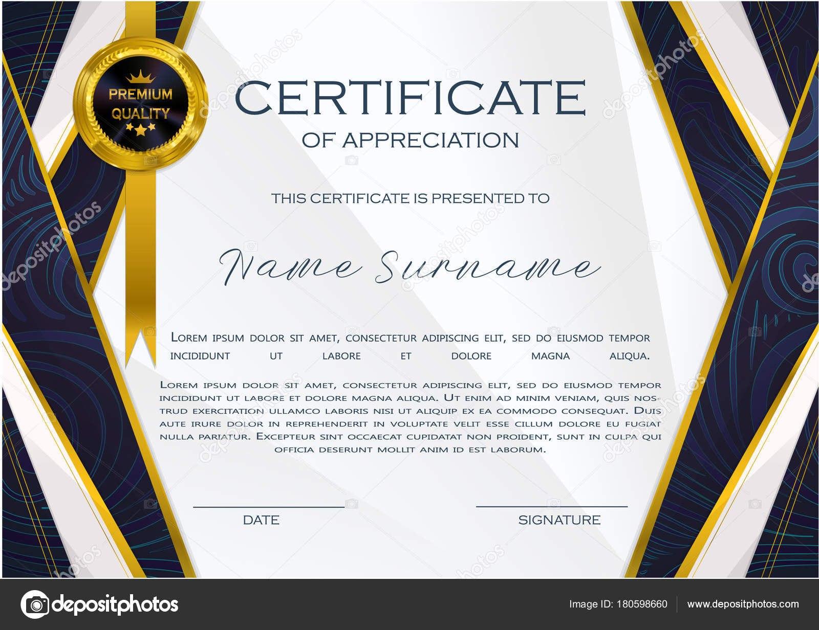 Qualification Certificate Appreciation Design Elegant Luxury Modern In High Resolution Certificate Template