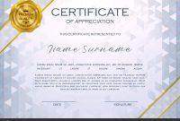 Qualification Certificate Appreciation Design Elegant Luxury Modern with regard to Qualification Certificate Template