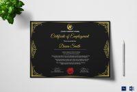 Qualified Employment Certificate Design Template In Psd Word in Commemorative Certificate Template