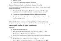 Qualitative Research Paper  Education  Essay Template Resume throughout Research Report Sample Template