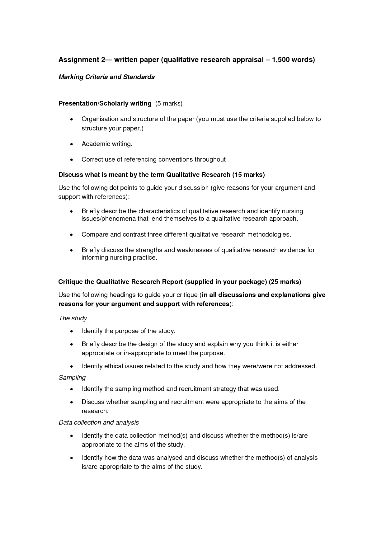 Qualitative Research Paper  Education  Essay Template Resume With Regard To How To Write A Work Report Template