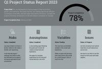Quarterly Project Status Progress Report Template Template  Venngage within Quarterly Status Report Template