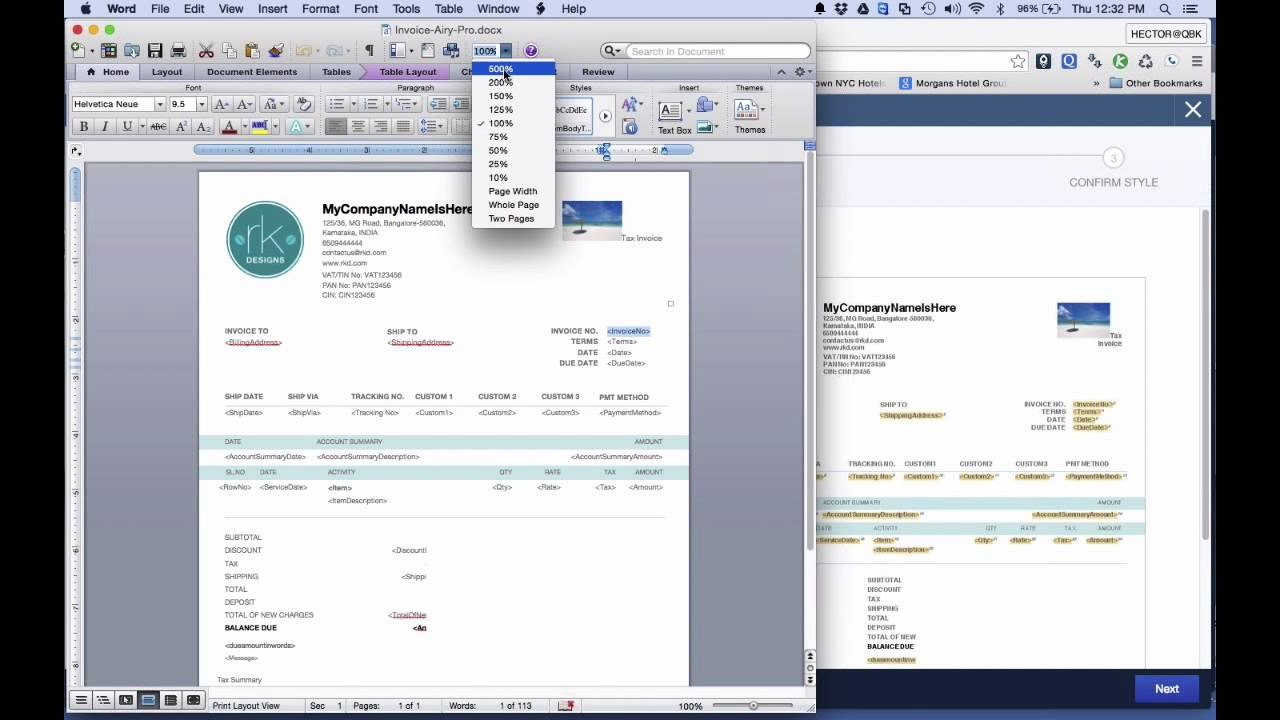 Quickbooks Online  Tutorial Customizing Invoice Styles  Youtube Throughout How To Change Invoice Template In Quickbooks