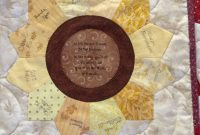 Quilt Label Made Using Lori Holt's Tumbler And Circle Templates pertaining to Quilt Label Template