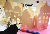 Ramadan Diy Mosque Centerpiece  Rehana Du Jour regarding Recollections Card Template