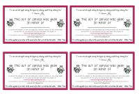 Random Act Of Kindness Card For A Loved One Who Has Passed Away A within Random Acts Of Kindness Cards Templates