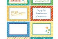 Random Act Of Kindness Free Printables  Carla Schauer Designs inside Random Acts Of Kindness Cards Templates