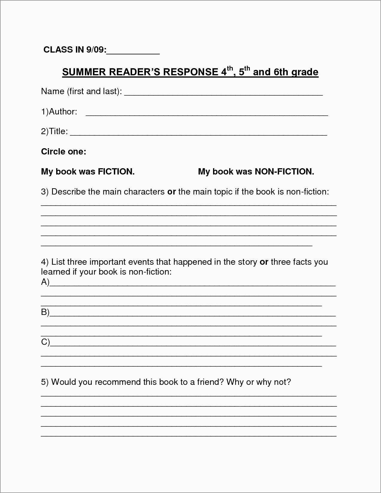 Rd Grade Book Report Template Free Fabulous Book Report Template For Book Report Template Grade 1