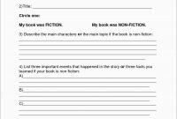Rd Grade Book Report Template Free Fabulous Book Report Template regarding First Grade Book Report Template