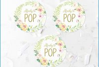 Ready To Pop Labels Template Free New Pink Floral Ready To Pop Favor pertaining to Ready To Pop Labels Template