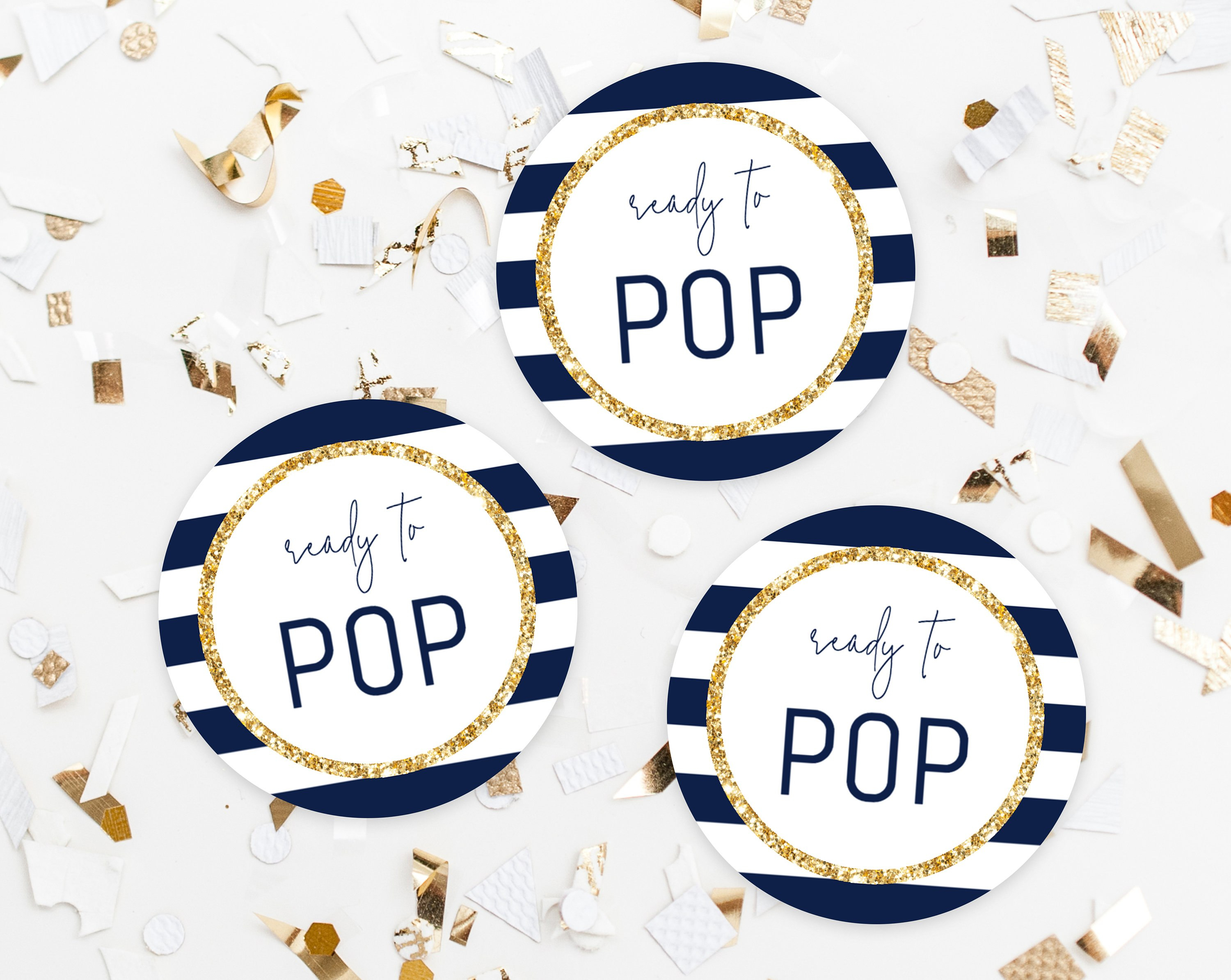 Ready To Pop Labels Template Ready To Pop Tags Baby Shower  Etsy Intended For Ready To Pop Labels Template