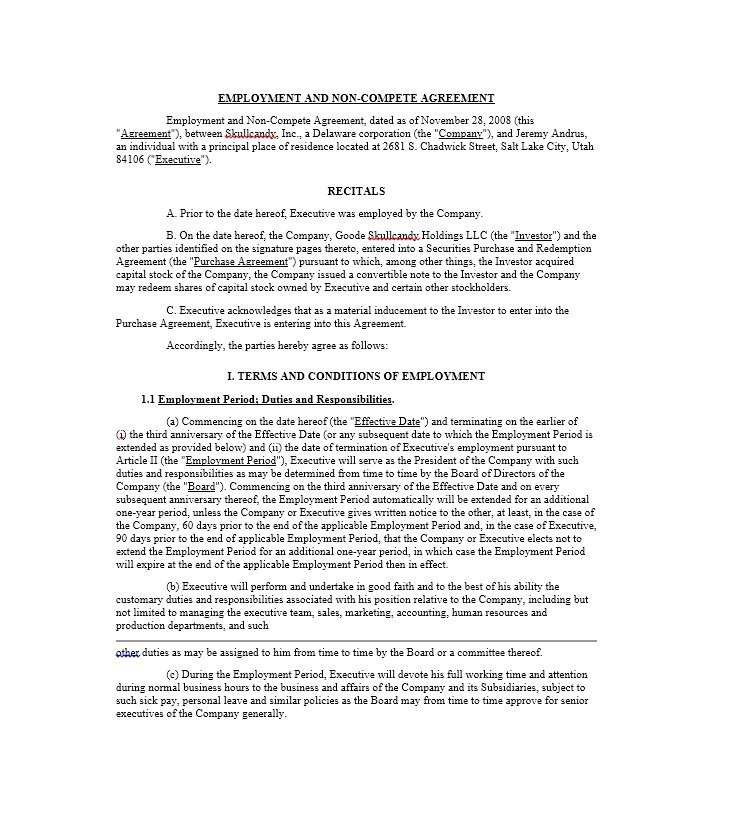 Readytouse Noncompete Agreement Templates ᐅ Template Lab Intended For Business Templates Noncompete Agreement