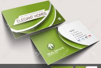 Real Estate Agent Business Card Set Template Royalty Free Cliparts with Real Estate Agent Business Card Template