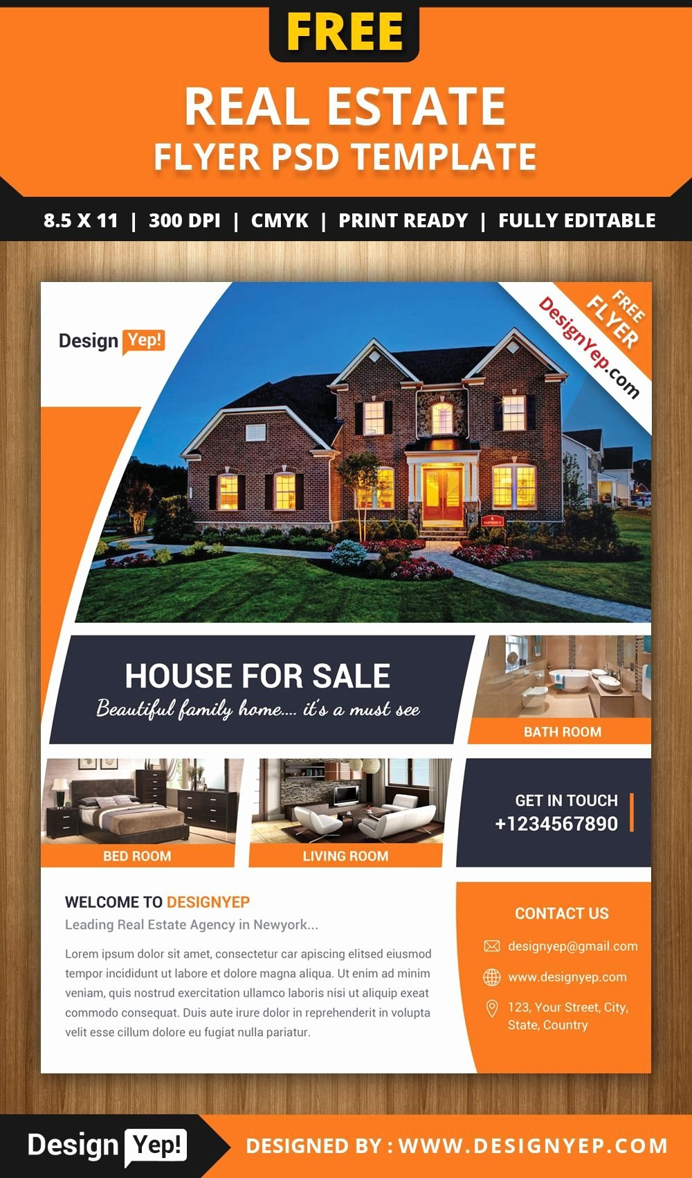 Real Estate Brochure Template Luxury Free Real Estate Flyer Psd Inside Real Estate Brochure Templates Psd Free Download