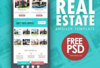 Real Estate Emailer Template Psd  Psdfreebies in Real Estate Brochure Templates Psd Free Download